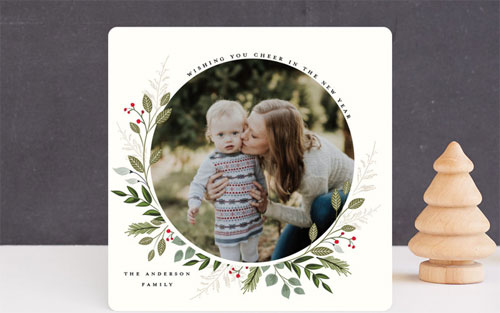 Mistletoe Kissed Botanical Floral Card